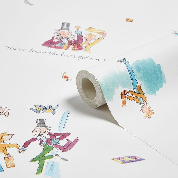 Muriva Roald Dahl Golden Ticket Wallpaper | Departments | DIY at B&Q