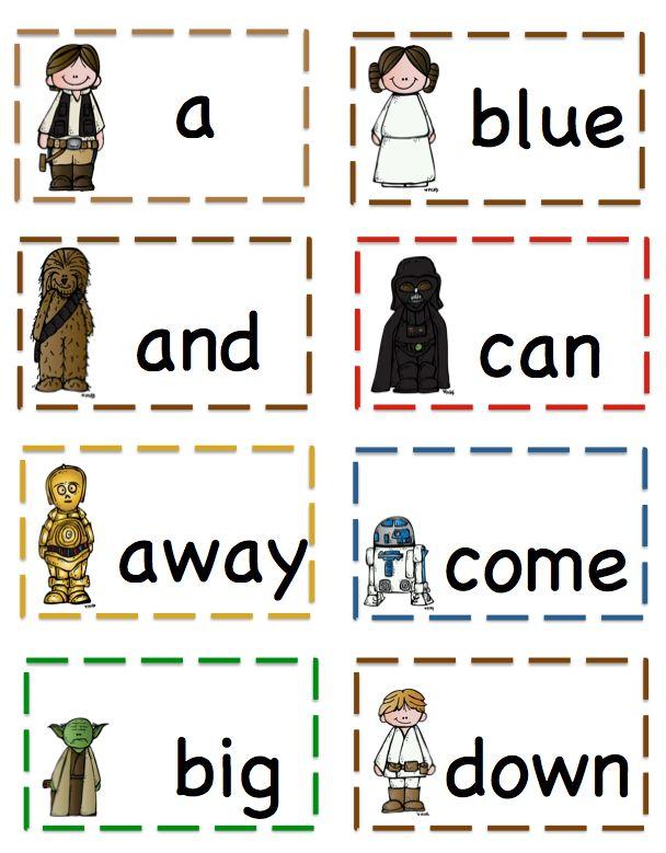 Preschool Printables: Star Wars Pre-Primer Sight Vocabulary