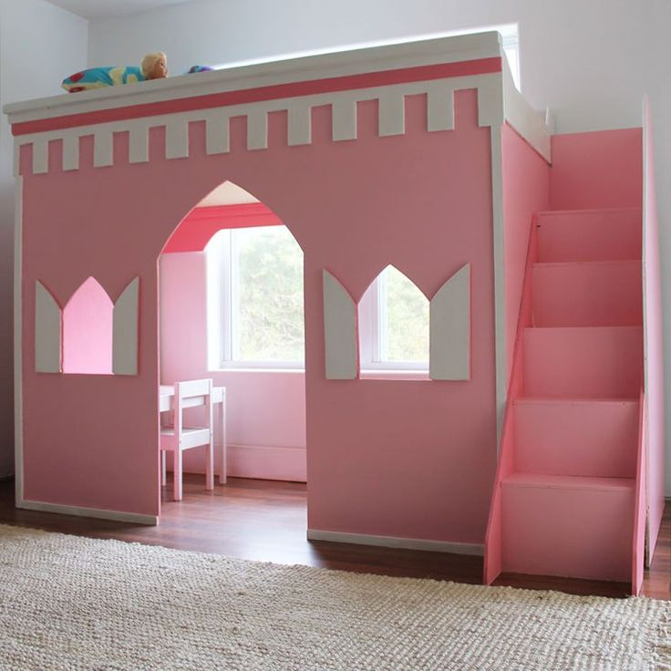59 best castle beds images on pinterest child room kid for How to build a castle bed