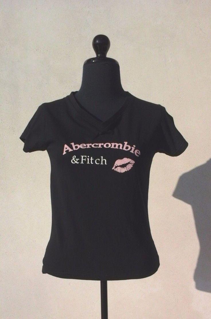 Tee-Shirt Femme ABERCROMBIE & FITCH Noir S (36/1) | eBay