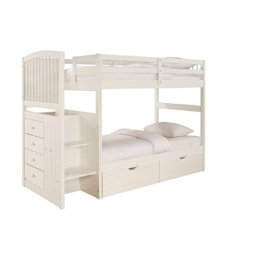 Twin Over Twin Bunk Bed With Stairs 1000 Big Girls