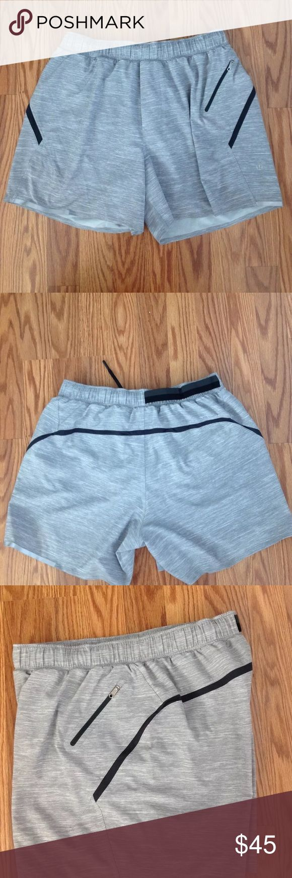 "Selling this Lululemon Medium Surge Shorts 5"" Heather Gray on Poshmark! My username is: wrd14. #shopmycloset #poshmark #fashion #shopping #style #forsale #lululemon athletica #Other"