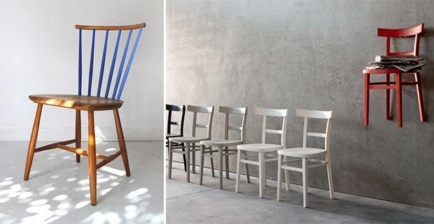 Come rinnovare sedie in legno. Idee e colori   Sedia legno ...