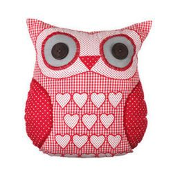 Red owl cudhion. http://www.countryavenue.com/