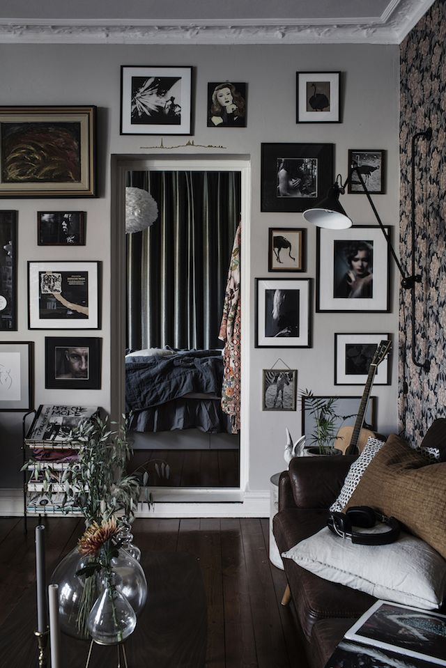 my scandinavian home: An arty Gothenburg home in rich tones and bold patterns