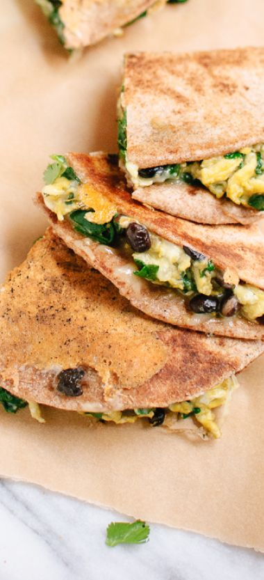 You have to try these protein-packed breakfast quesadillas!