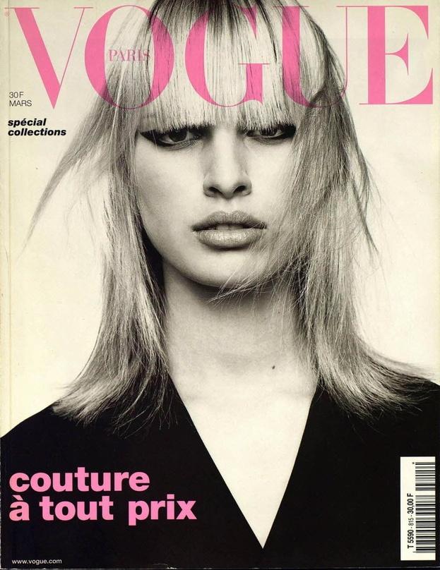 Karolina Kurkova en couverture du numéro de mars 2001 de Vogue Paris http://www.vogue.fr/thevoguelist/karolina-kurkova/110