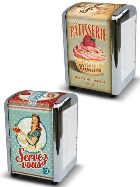 Retro servettitelineet Cupcake-malli 11,90
