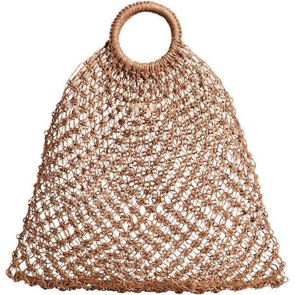 Mesh Jute Bag (€45) ❤ liked on Polyvore featuring bags, handbags, mesh handbags, mango purse, mesh bag, mango bags and mango handbags