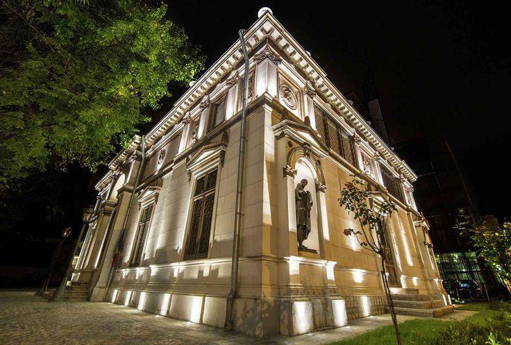 Th. Aman Museum. #exteriorlighting. Architectural  lighting