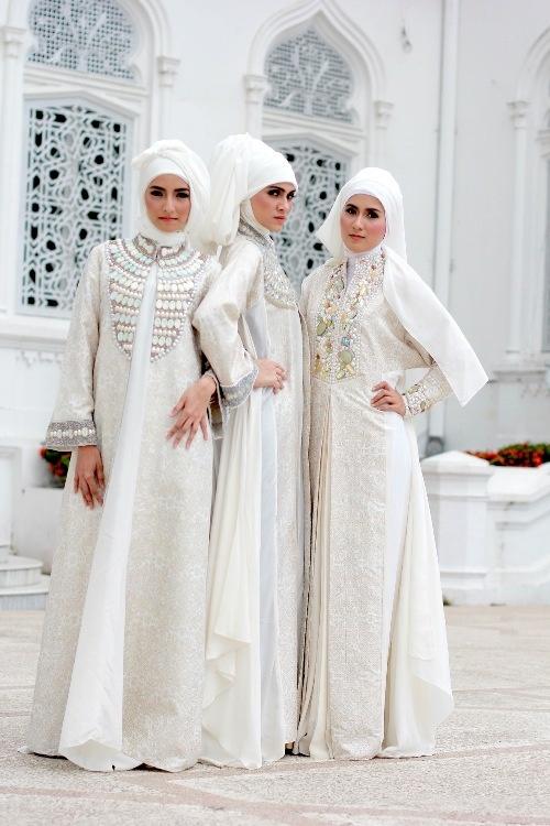 White wedding hijab