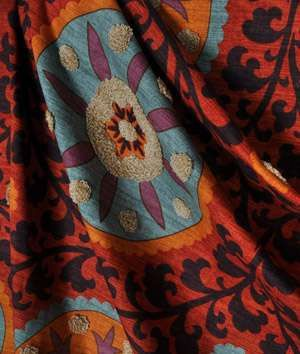FLASH SALETribal Thread Sunset Waverly Fabric by GaloriousFabrics