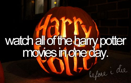 watch all the harry potter movies in one day