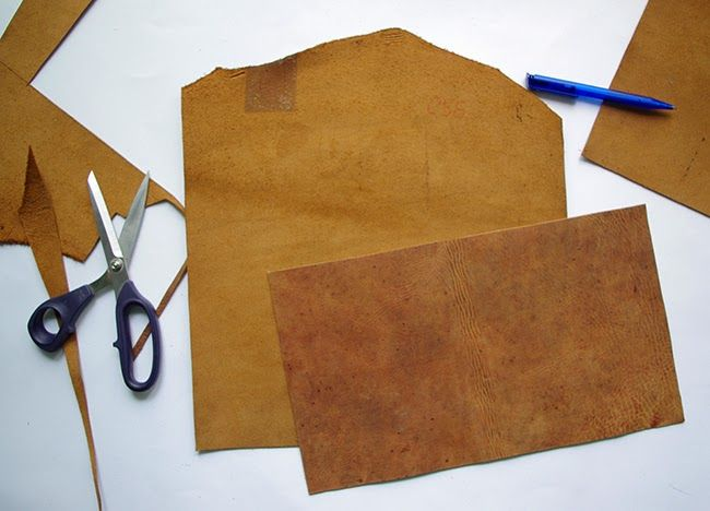 Как сшить клатч из кожи