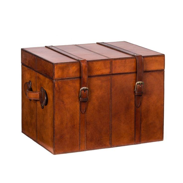 Burton Tan Leather Trunk - Sml