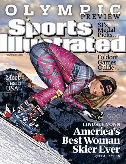 Lindsey Vonn Sports Illustrated Cover: Photo Causes Controversy - I read today that Tiger Woods is dating this famous olympic athlete. In honor of it, I am pinning the controversial S.I Cover which links to the story talking about it. I don't see anything too sexual here, I mean I could if try, but I don't, to me it's just a skiing position.