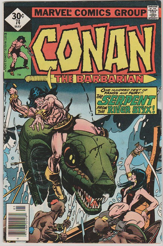 asics tiger ultimate 81 red Conan The Barbarian; V1, 74 VF+. May 1977 Marvel Comics