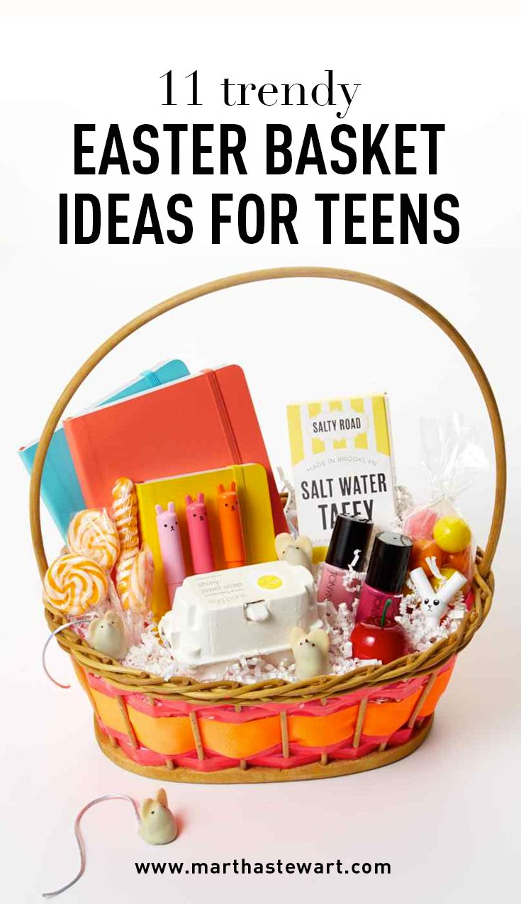 11 Trendy Easter Basket Ideas for Teens | Martha Stewart Living - Think she's too old for an Easter basket? Think again!