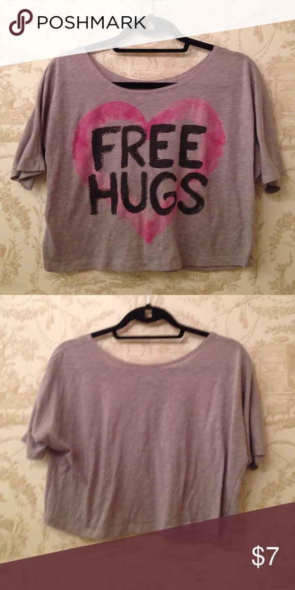 Free hugs shirt Great condition, very flowy can be like a crop top Tops