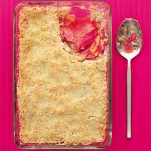 Rhubarb and blood orange crumble Recipe   delicious. Magazine free recipes