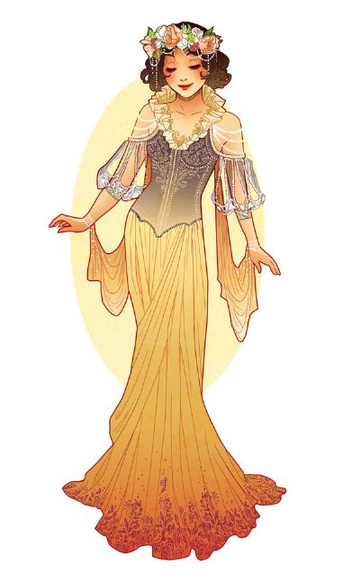 Art Nouveau Snow White by Hannah Alexander