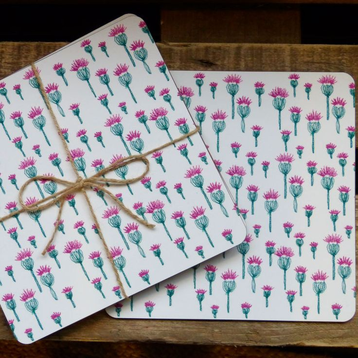 Jaggy Thistle Placemat x 4