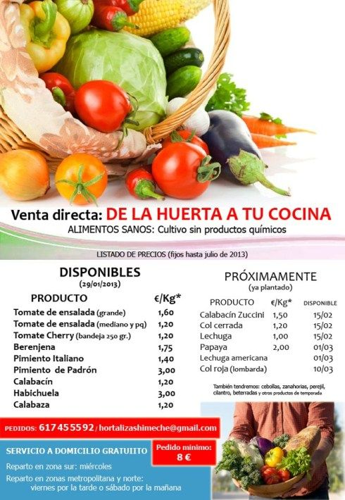Free home delivery throughout Tenerife from new Guía de Isora organic fruit and veg business – Janet Anscombe