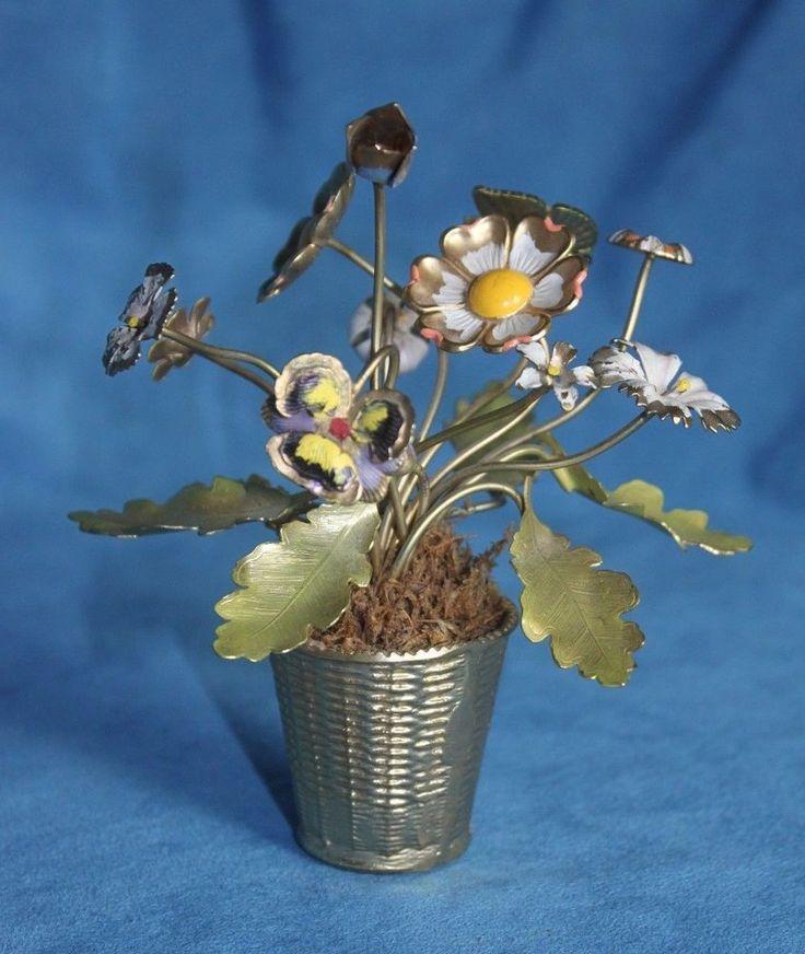 Flower Baskets Usa : Vintage mid century petites choses usa enamel flower