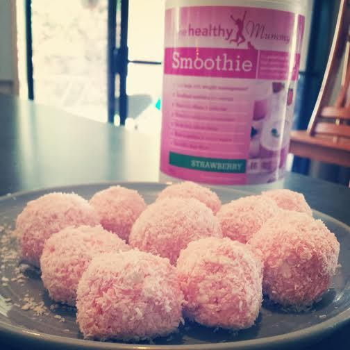 Healthy Mummy Strawberry Cheesecake Balls