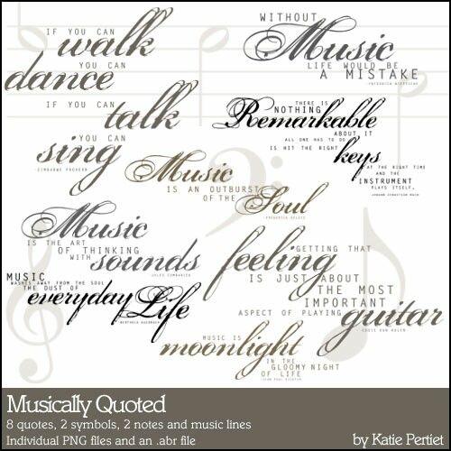 Musically Quoted Brushes and Stamps- Katie Pertiet Brushes- DS407043- DesignerDigitals