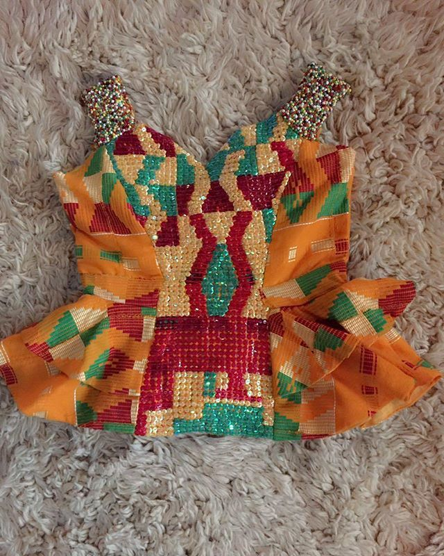 Finish work Watch out for our bride who would be rocking this beautiful beaded clothes form us. Beadwork by yours truly. #kentespiration