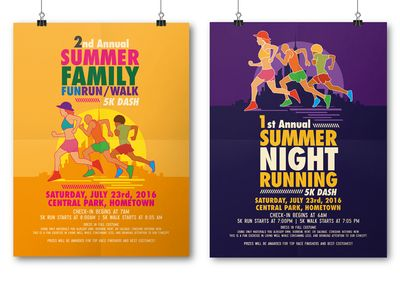 Summer Running Flyer Templates by Tiar Prayoga - Dribbble