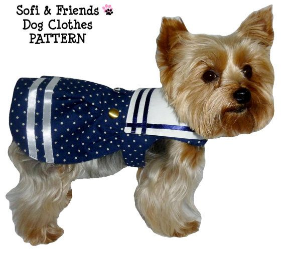 Dog Clothes Pattern 1623 Ships Ahoy Dog Dress for the Little Dog in Two Styles