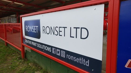 One of our banners at Accrington Stanley FC, proud to be a sponsor of such a great, iconic club! http://www.ronset.co.uk/