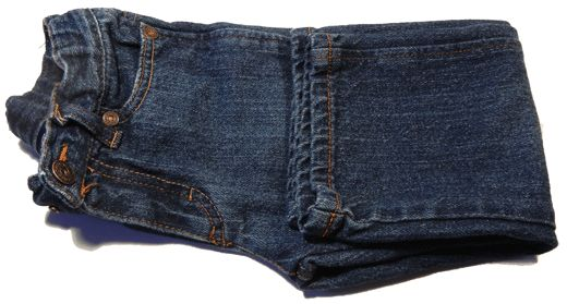 E.C.B. (Especially Creative Broad): Closet hints: Folding jeans so they take up less space