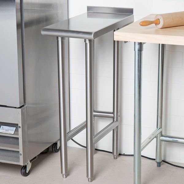 Advance Tabco Tfms 122 12 X 24 Equipment Filler In 2020 Table Storage Spaces Stainless Steel Types