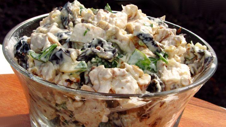 Грузинский салат с говядиной и черносливом