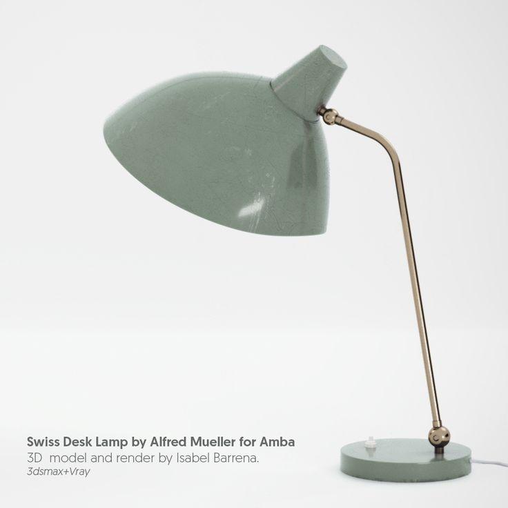 3d Model+Render Desk Lamp designed by Alfred Mueller on Behance
