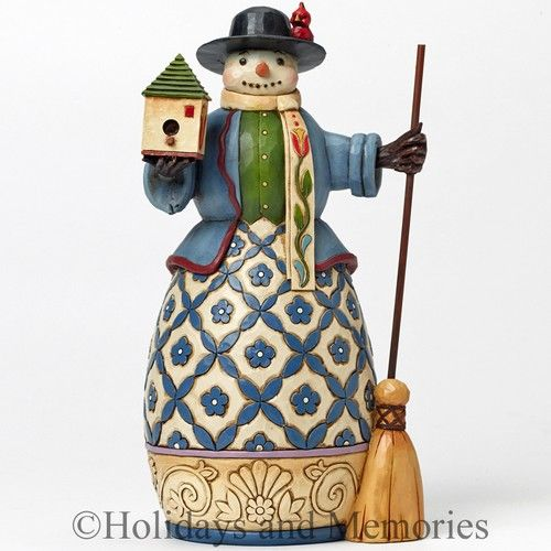 Williamsburg Snowman with Birdhouse Figurine by Jim Shore 4041131