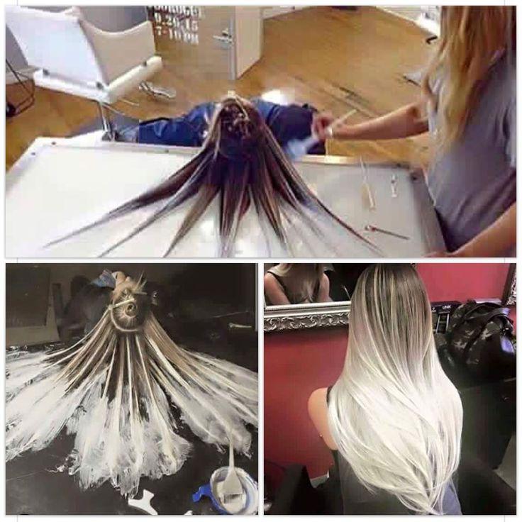 DIY Natural dirty blonde to platinum blonde ombré
