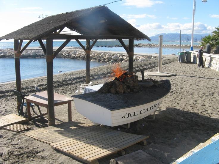 Boat barbeque, Málaga, Spain