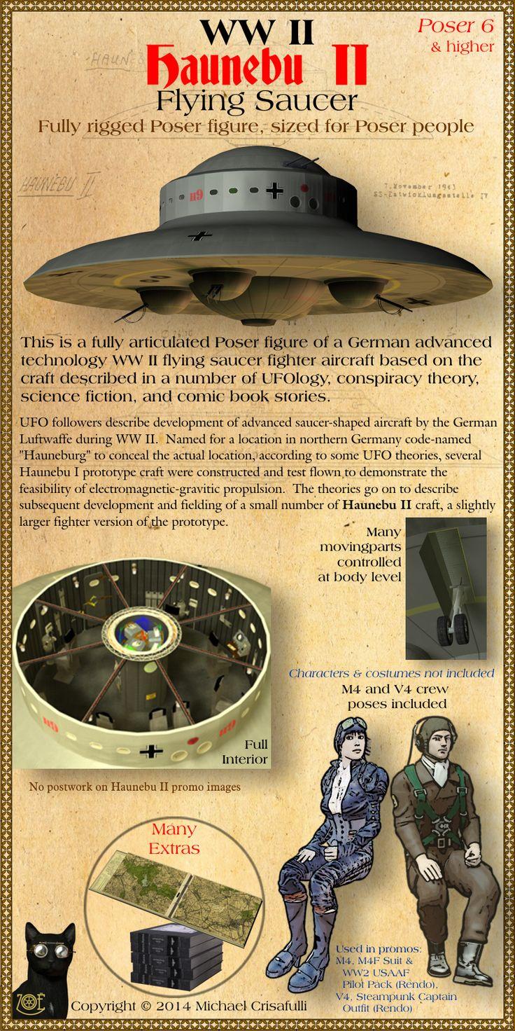 Haunebu-II WW2 Flying Saucer | ~ https://de.pinterest.com/davidhronowski/ufo/