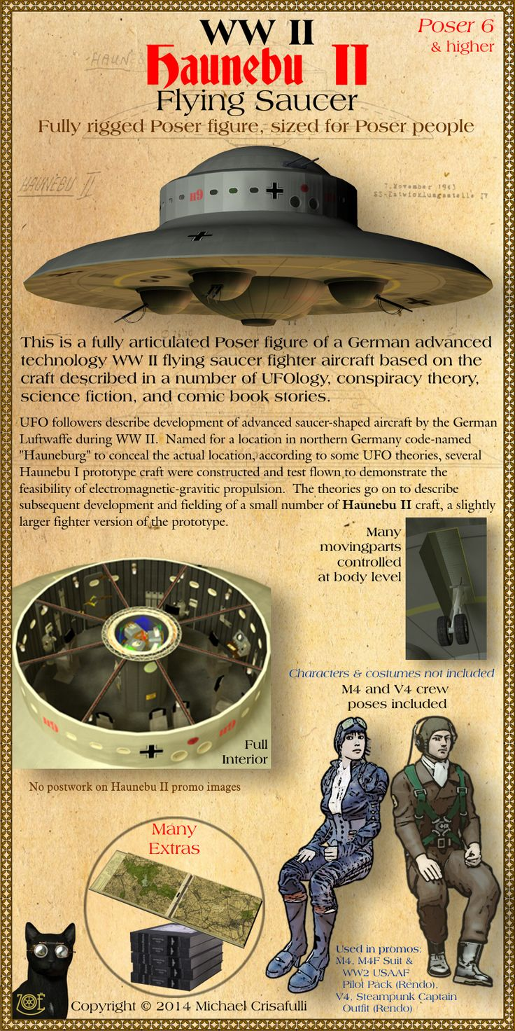 Haunebu-II WW2 Flying Saucer | ~ https://de.pinterest.com/davidhronowski/ufo/