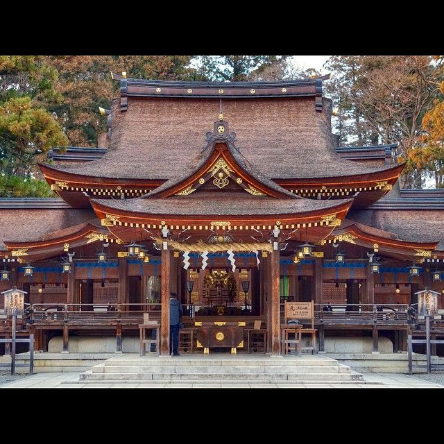 Taga-taisha (多賀大社) is a Shinto shrinelocated in Taga, Shiga Prefecture, Japandedicated to Izanagi and Izanami. It is associated with long life, successful marriage and good fortune. The shrine is frequently referred to as O-taga-san (お多賀さん) by local residents. The gardens of the inner shoin are a nationally-designated Place of Scenic Beauty.