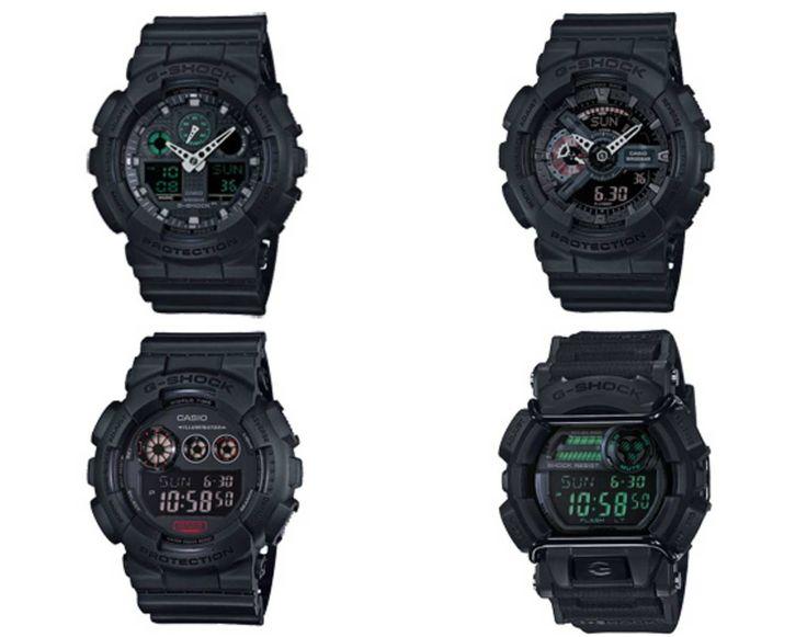 "Casio G-Shock ""Military Black"" Series."