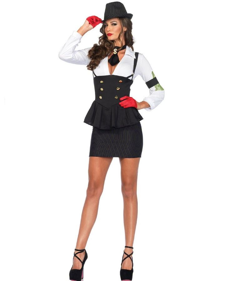 LA85440 Machine Gun Molly Fancy Dress Costume