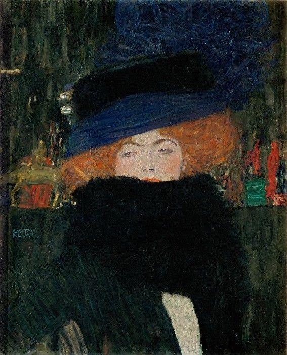 Дама в шляпке и боа из перьев.Частная коллекция 1909