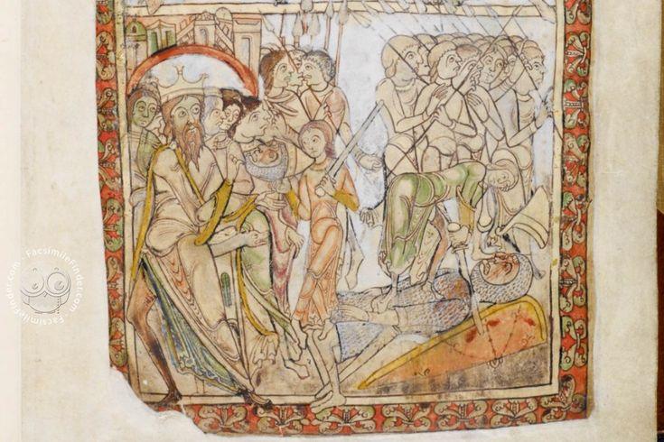 David kills Goliath (fol. 6r)