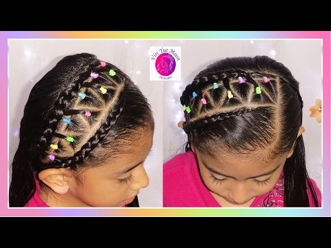 EASY School Hairstyles! Short & Long | Elastic bands Braided Headband! | Viriyuemoon - YouTube