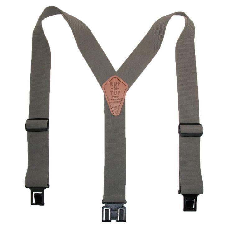 Perry Suspenders Mens Elastic Ruf-N-Tuf Hook End Suspenders (Tall Available)